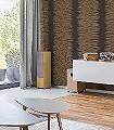 Plume,-col.16-Streifen-Moderne-Muster-Gold-Anthrazit