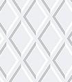 Pompeian,-col.60-Rauten-Graphisch-3D-Tapeten-Grafische-Muster-Grau-Weiß-Creme