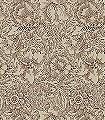 Poppy-Cream/Chocolate-Blumen-Blätter-Klassische-Muster-Florale-Muster-Braun-Creme