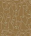 Portrait,-col.-06-Gesichter-Moderne-Muster-Braun-Creme