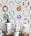 Porzellantapete,-bunt-Teller-Moderne-Muster-Weiß-Multicolor