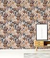 Posidonie,-col.-2-Tiere-Blätter-Fauna-Florale-Muster-Gold-Orange-Rosa-Schwarz-Bronze
