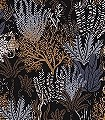 Posidonie-col.-6-Tiere-Blätter-Fauna-Florale-Muster-Blau-Gold-Schwarz-Bronze-Weiß