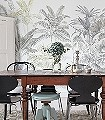 Pride-Palms-Bäume-Florale-Muster-FotoTapeten-Gelb-Anthrazit-Creme