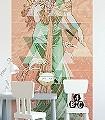 Printemps,-col.-5-Figuren-Gesichter-Graphisch-Klassische-Muster-FotoTapeten-Jugendstil-Multicolor