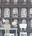 Procuratie-con-Vista,-col.-6-Tiere-Gebäude-Zeichnungen-Moderne-Muster-Braun-Anthrazit