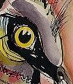 Punk-Spirit-Vögel-Zeichnungen-Aquarell-FotoTapeten