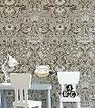 Pure-Lodden,-col.09-Blumen-Blätter-Klassische-Muster-Creme-Hellbraun