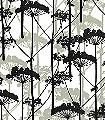 Putkinotko,-col.51-Bäume-Florale-Muster-Grau-Olive-Schwarz-Weiß
