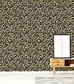 Quartz,-col.08-Quadrate/Rechtecke-Grafische-Muster-Gold-Olive-Schwarz
