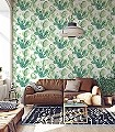 Raina,-col.-2-Blätter-Florale-Muster-Grün-Weiß