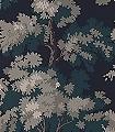 Raphael,-col.-1-Bäume-Florale-Muster-Grün-Schwarz-Creme