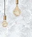 Ratan,-col.-2-Blätter-Florale-Muster-Moderne-Muster-Grau-Weiß