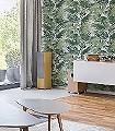 Ratan,-col.-4-Blätter-Florale-Muster-Moderne-Muster-Grün-Weiß