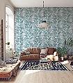 Ratan,-col.-9-Blätter-Florale-Muster-Moderne-Muster-Grün-Weiß