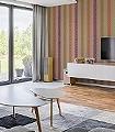Remigius-Streifen-Moderne-Muster-Lila-Braun-Orange-Hellbraun