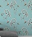Ricka,-col.60-Blumen-Vögel-Fauna-Florale-Muster-Schwarz-Weiß-Multicolor