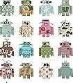 RoboterTapete-Figuren-Moderne-Muster-FotoTapeten-KinderTapeten-Weiß-Multicolor