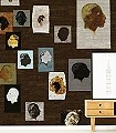 Rochus-Gesichter-Holz-Moderne-Muster-FotoTapeten-Braun-Multicolor