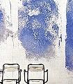 Rogan-Bögen-Gebäude-Räume-Patina-Großmotiv-Farbverlauf-Moderne-Muster-FotoTapeten-Blau-Weiß