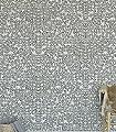 Romans,-col.09-Blätter-Zeichnungen-Florale-Muster-Anthrazit-Weiß