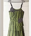 Rose-Dress,-green-Kleidung-Moderne-Muster-Creme-Multicolor