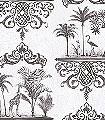 Rousseau,-col.09-Ornamente-Tiere-Klassische-Muster-Anthrazit-Weiß