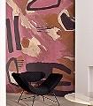 SILK-SCARF,-Cuisse-de-Nymphe-Grafitti-Moderne-Muster-FotoTapeten-Rosa-Anthrazit-Creme-Ocker