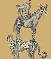 Safari-Stack,-col.-2-Tiere-Fauna-KinderTapeten-Anthrazit-Ocker