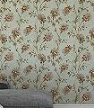 Sanna,-col.04-Blumen-Stoff-Ranken-Florale-Muster-Rot-Grün-Braun