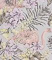 Sargon,-col.04-Blumen-Tiere-Blätter-Flamingos-Florale-Muster-Multicolor-Flieder