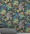 Savuti,-col.-06-Tiere-Vögel-Fauna-Florale-Muster-Olive-Multicolor