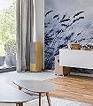 Scandinavian-Light-Gras-Florale-Muster-Moderne-Muster-FotoTapeten-Blau-Weiß