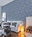 Schersmin,-col.-6-Blätter-Äste-Florale-Muster-Blau-Gold