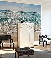 Seaside-Strand-Wasser-FotoTapeten-Blau-Creme