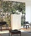 Secret-Garden,-Lush-Bäume-Blätter-Florale-Muster-FotoTapeten-Grün-Anthrazit-Creme-Ocker