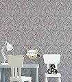 Selva,-col.-1-Blätter-Florale-Muster-Gold-Grau-Creme