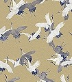 Sencha,-gold-Tiere-Vögel-Fauna-Blau-Gold-Weiß