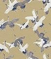 Sencha,-gold-Tiere-Vögel-Fauna-Gold-Weiß