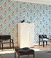 Shabby-Chic,-col.01-Ornamente-Blumen-Florale-Muster-Multicolor-Hellblau