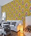 Shabby-Chic,-col.10-Ornamente-Blumen-Florale-Muster-Gelb-Multicolor