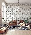 Shelf,-cream-Blumen-Gegenstände-Vintage-Tapeten-Moderne-Muster-Grau-Hellgrün-Weiß-Creme