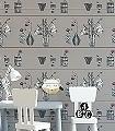 Shelf,-pink-Blumen-Gegenstände-Vintage-Tapeten-Moderne-Muster-Grau-Anthrazit-Weiß-Pink