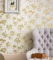Shouchikubai,-col.02-Ornamente-Blätter-Klassische-Muster-Gold-Creme-Hellbraun
