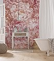 Soave-Blumen-Blätter-FotoTapeten-Rosa-Creme