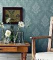 Sofia,-col.-2-Ornamente-Blumen-Blätter-Klassische-Muster-Florale-Muster-Grün-Anthrazit-Creme