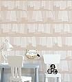 Soft-Pink-Edition-Schemen/Silhouetten-Moderne-Muster-Rosa-Weiß