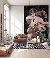 Songes-Bleu,-col.-9-Blätter-Figuren-Gesichter-Jugendstil-Klassische-Muster-FotoTapeten-Jugendstil-Multicolor