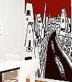 Sonstwo-a,-Stadt-Landschaft-Gebäude-Moderne-Muster-FotoTapeten-Rot-Schwarz-Weiß