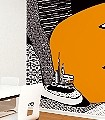 Sonstwo-k,-Schwimmende-Inseln-Landschaft-Kunst-Gebäude-Moderne-Muster-FotoTapeten-Orange-Schwarz-Weiß